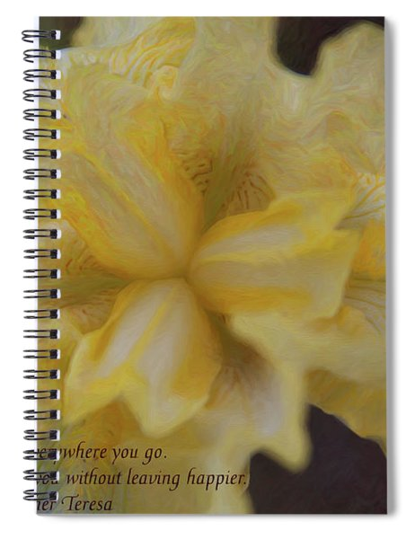 Spreading Love - Motivational Flower Art By Omaste Witkowski Spiral Notebook