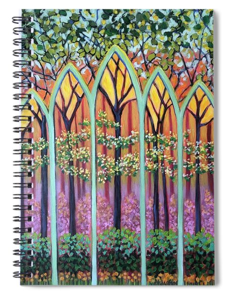 Spring Cathedral Spiral Notebook