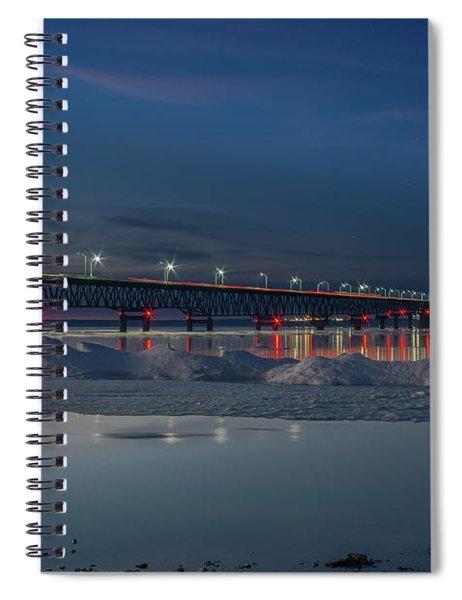 Spring Evening At The Mackinac Bridge Spiral Notebook