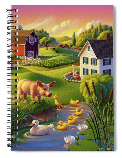 Spring Pig Spiral Notebook