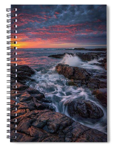 Spring Sunrise At Marginal Way Spiral Notebook