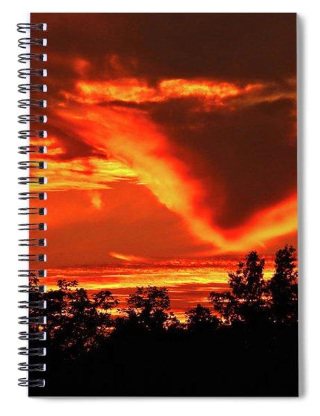 Springport, Michigan Sunset 4289 Spiral Notebook