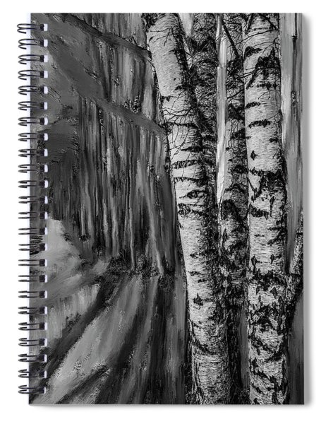 springtime ligh BW #i6 Spiral Notebook