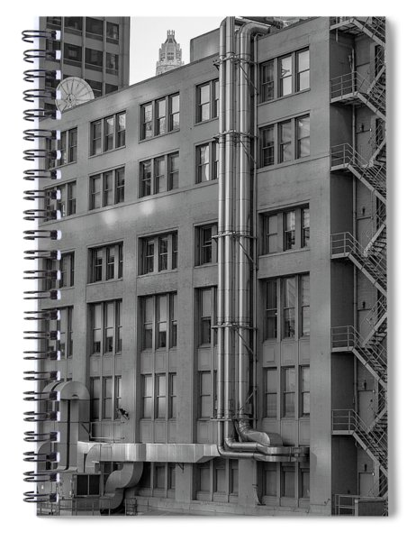 Squares And Lines Spiral Notebook