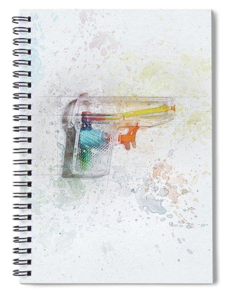 Squirt Gun Painted Spiral Notebook