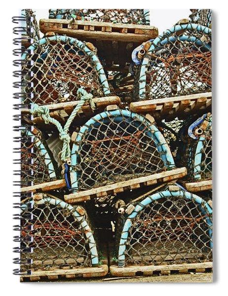 St. Andrews. Lobster Pots. Spiral Notebook