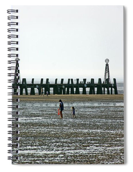 St. Annes. On The Beach. Spiral Notebook