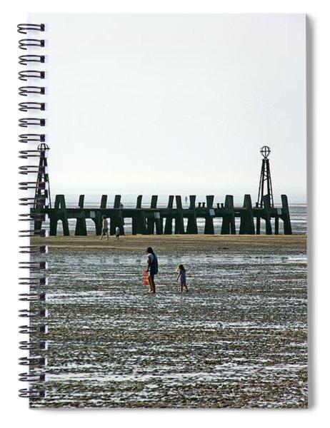 St. Annes. On The Beach. Spiral Notebook