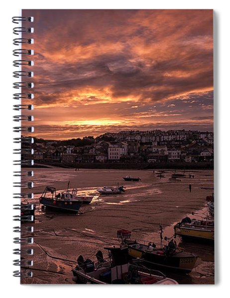 St Ives Cornwall - Harbour Sunset Spiral Notebook