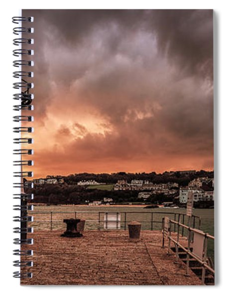 St Ives Cornwall - Lighthouse Sunset Spiral Notebook