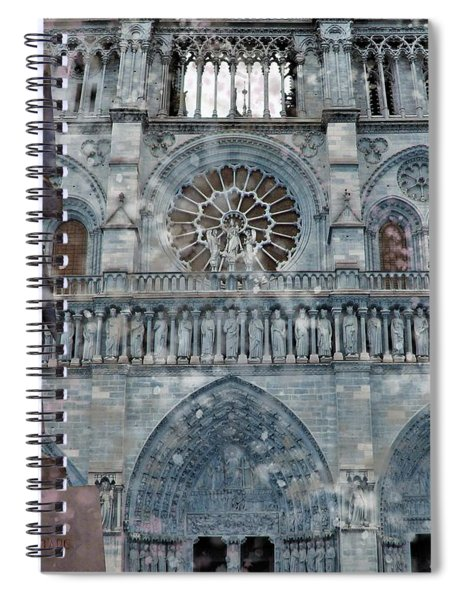 St Joan Of Arc Watch Over Notre Dame Spiral Notebook