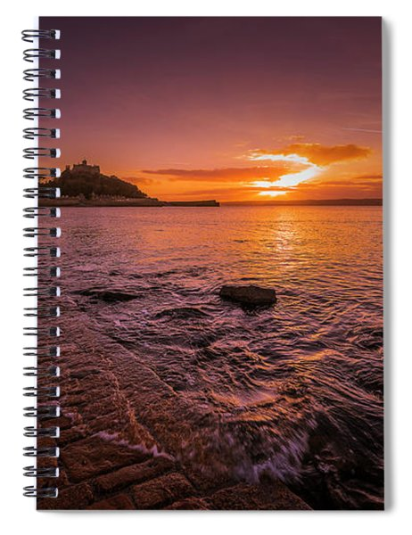 St Michael's Mount - January Sunset Spiral Notebook