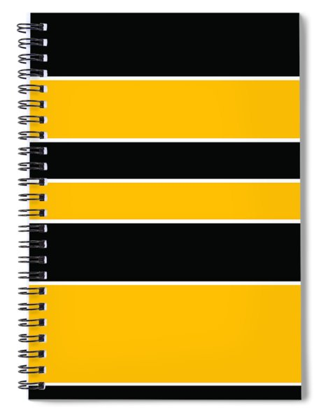 Stacked - Black And Yellow Spiral Notebook