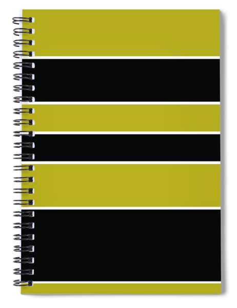 Stacked - Gold, Black And White Spiral Notebook