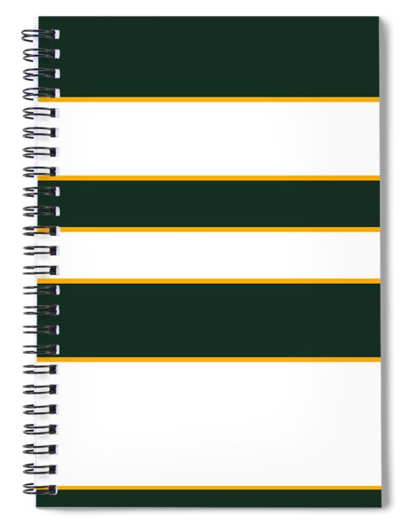 Stacked - Green, White And Yellow Spiral Notebook