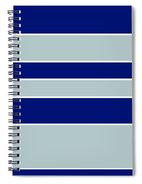 Stacked - Navy, Grey, And White Spiral Notebook