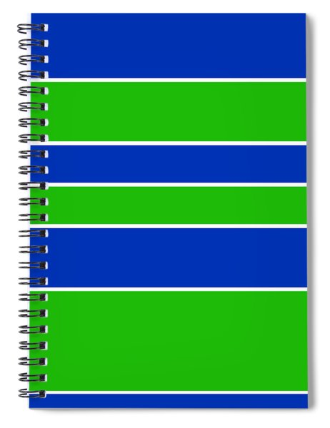 Stacked - Navy, White, And Lime Green Spiral Notebook