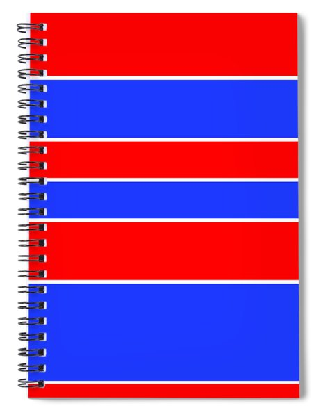 Stacked - Red, White And Blue Spiral Notebook