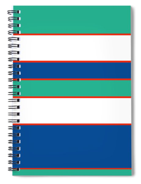 Stacked - Sea Foam, Orange, Navy And White Spiral Notebook