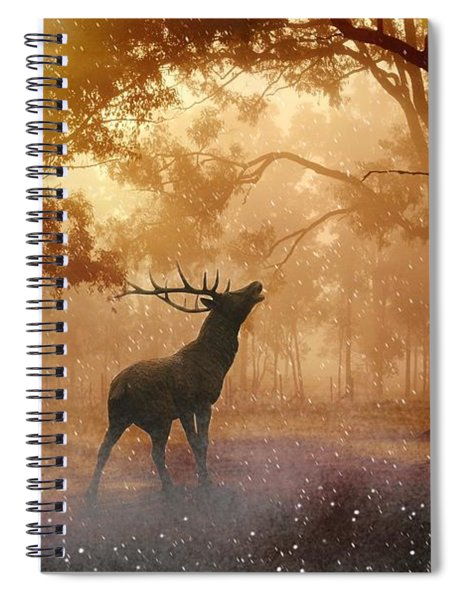 Stag In The Forest Spiral Notebook
