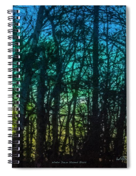 Stained Glass Dawn Spiral Notebook