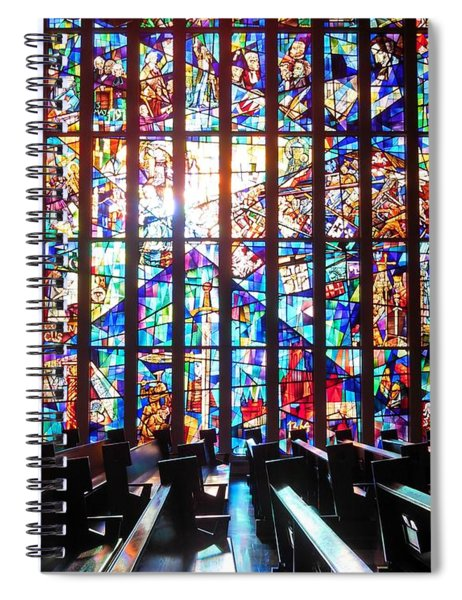Stained Glass Historical Our Lady Of Czestechowa Shrine Spiral Notebook