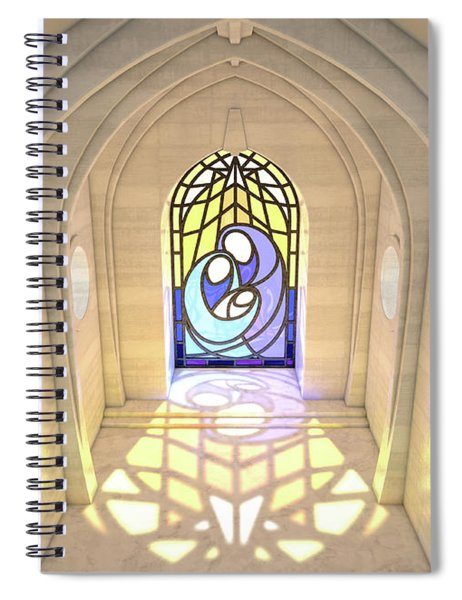 Stained Glass Window Nativity Scene Spiral Notebook