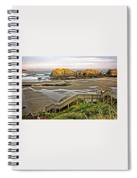 Stairs To The Beach Spiral Notebook
