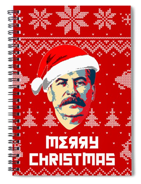 Stalin Merry Christmas Russian Letters Spiral Notebook