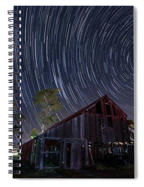 Star Trails Over Bonetti Ranch Spiral Notebook