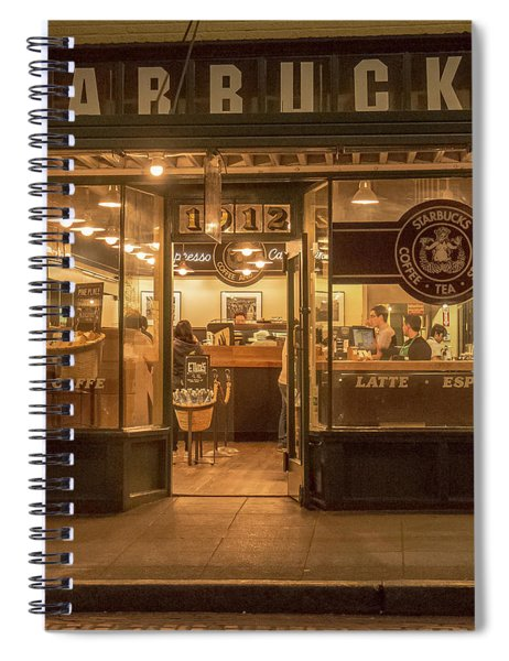 Starbucks At Pike Place Spiral Notebook