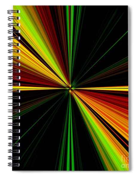 Starburst Light Beams Design - Plb461 Spiral Notebook