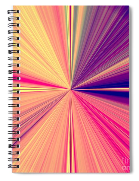 Starburst Light Beams In Abstract Design - Plb457 Spiral Notebook