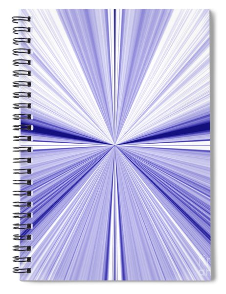 Starburst Light Beams In Blue And White Abstract Design - Plb455 Spiral Notebook