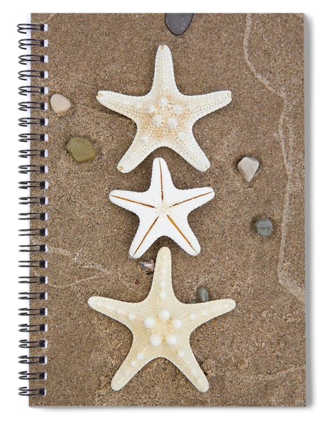 Starfish In The Sand Spiral Notebook
