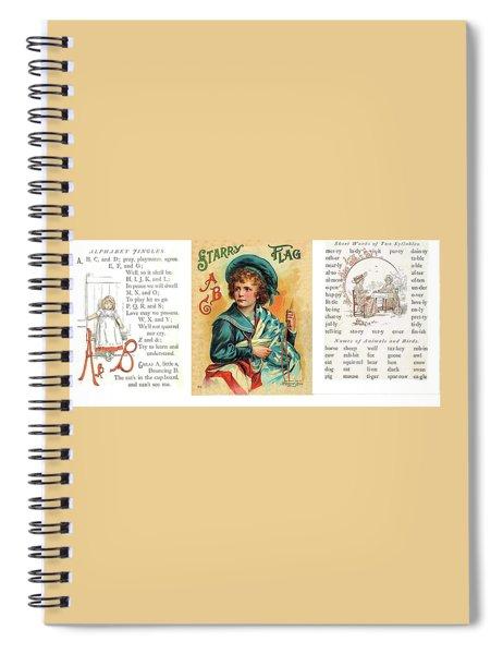 Starry Flagg Wrap A Round 3 Spiral Notebook