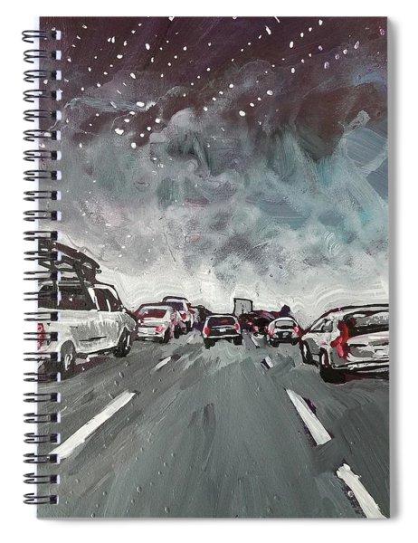Starry Night Traffic Spiral Notebook