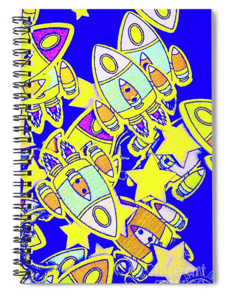 Stars And Spacecraft Spiral Notebook