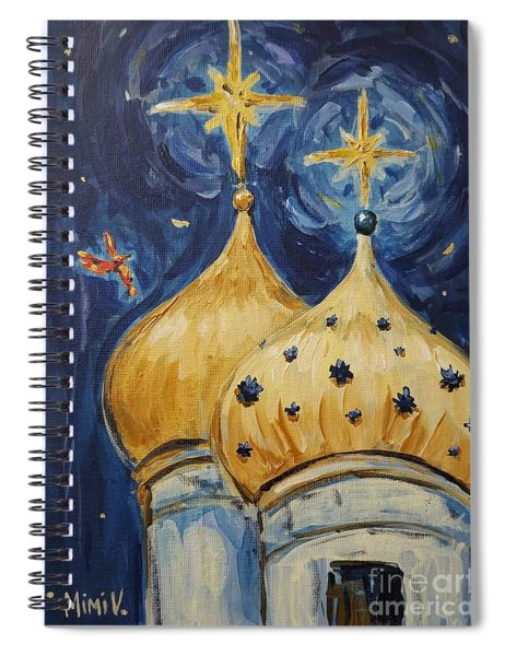 Stars Near And Far Spiral Notebook by Maria Langgle