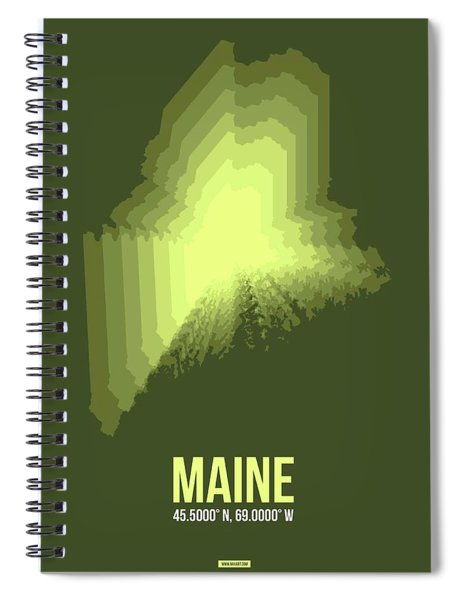 State Map Of Maine  Spiral Notebook