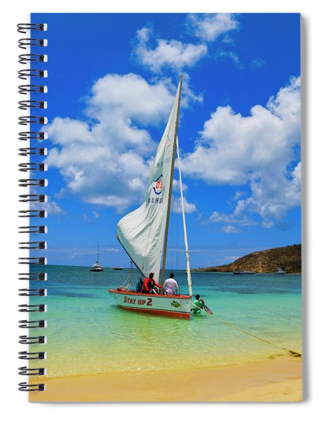 Stay Up 2 Sailing In Anguilla Spiral Notebook