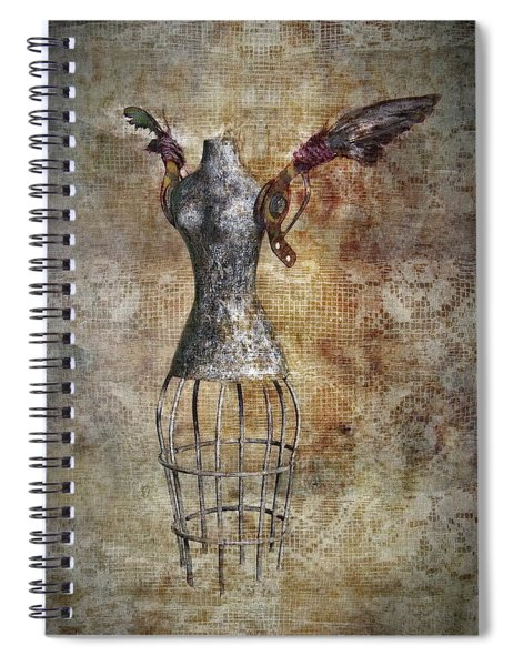 Steampunk Angel  Spiral Notebook