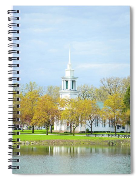 Steeple In The Fall Spiral Notebook