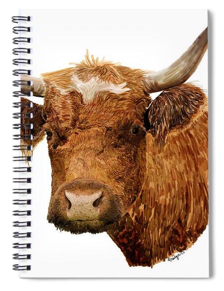 Steer Portrait - Barnyard Bunch Collection Spiral Notebook