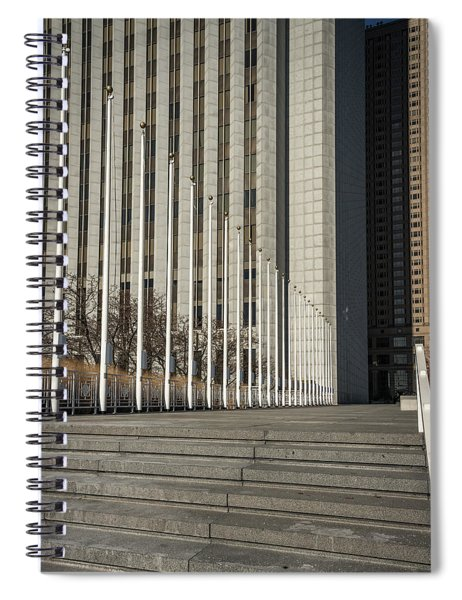 Steps And Poles Spiral Notebook
