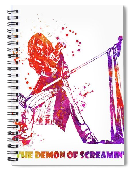 Steven Tyler Microphone Aerosmith Watercolor 04 Spiral Notebook