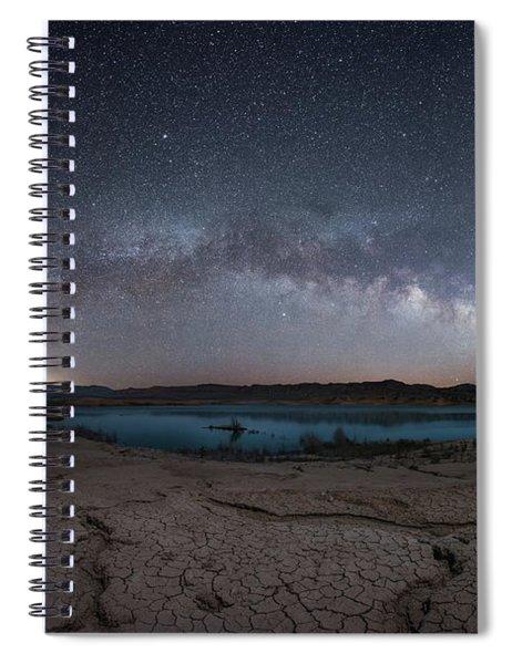 Stewarts Point Milky Way Pano  Spiral Notebook