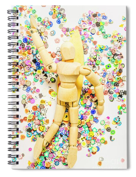 Sticker Surf Spiral Notebook