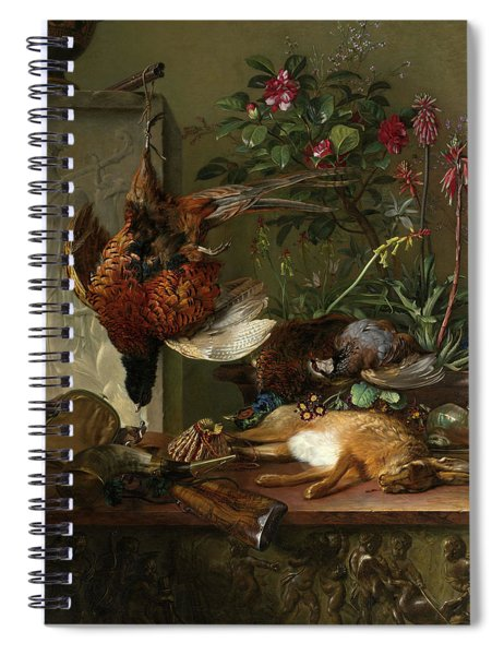 Still Life With Game And A Greek Stele Allegory Of Autumn, 1818 Spiral Notebook
