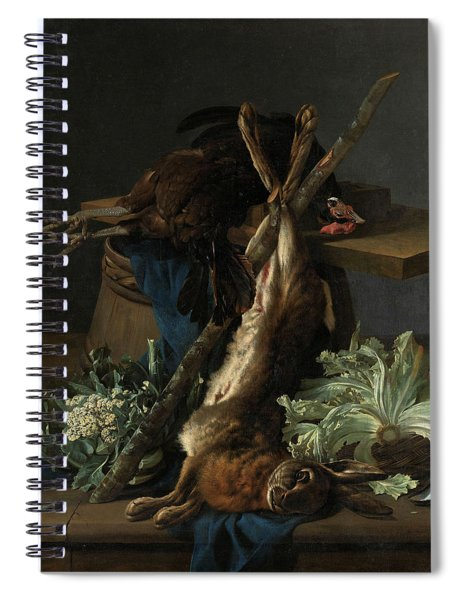 Still Life With Hare And A Black Rooster, 1659 Spiral Notebook
